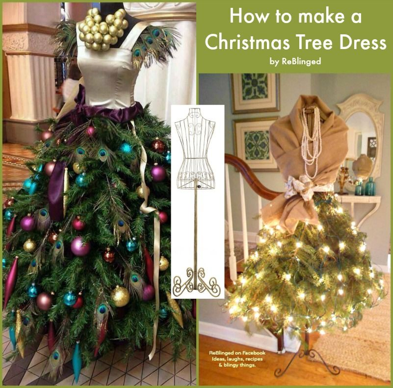 Complete instructions on HOW TO MAKE A CHRISTMAS TREE DRESS