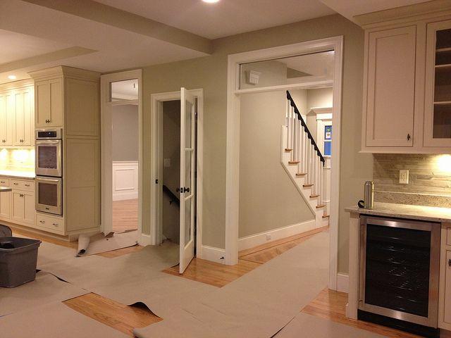 Grey Trim White Doors