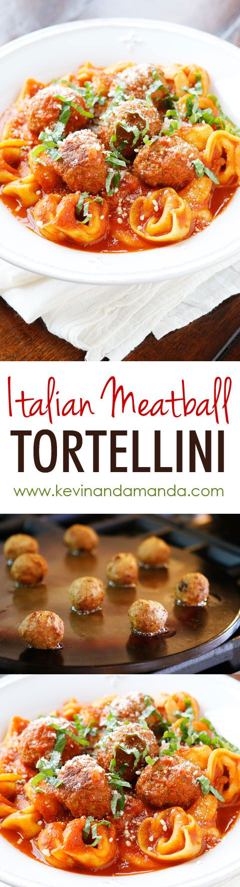 Italian Meatball Tortellini. I keep the ingredients for this on hand at ALL…