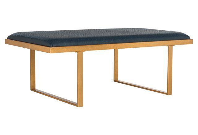 Admirable Birmingham Bench Navy Hp Madhus Modern Chic Condo Ibusinesslaw Wood Chair Design Ideas Ibusinesslaworg