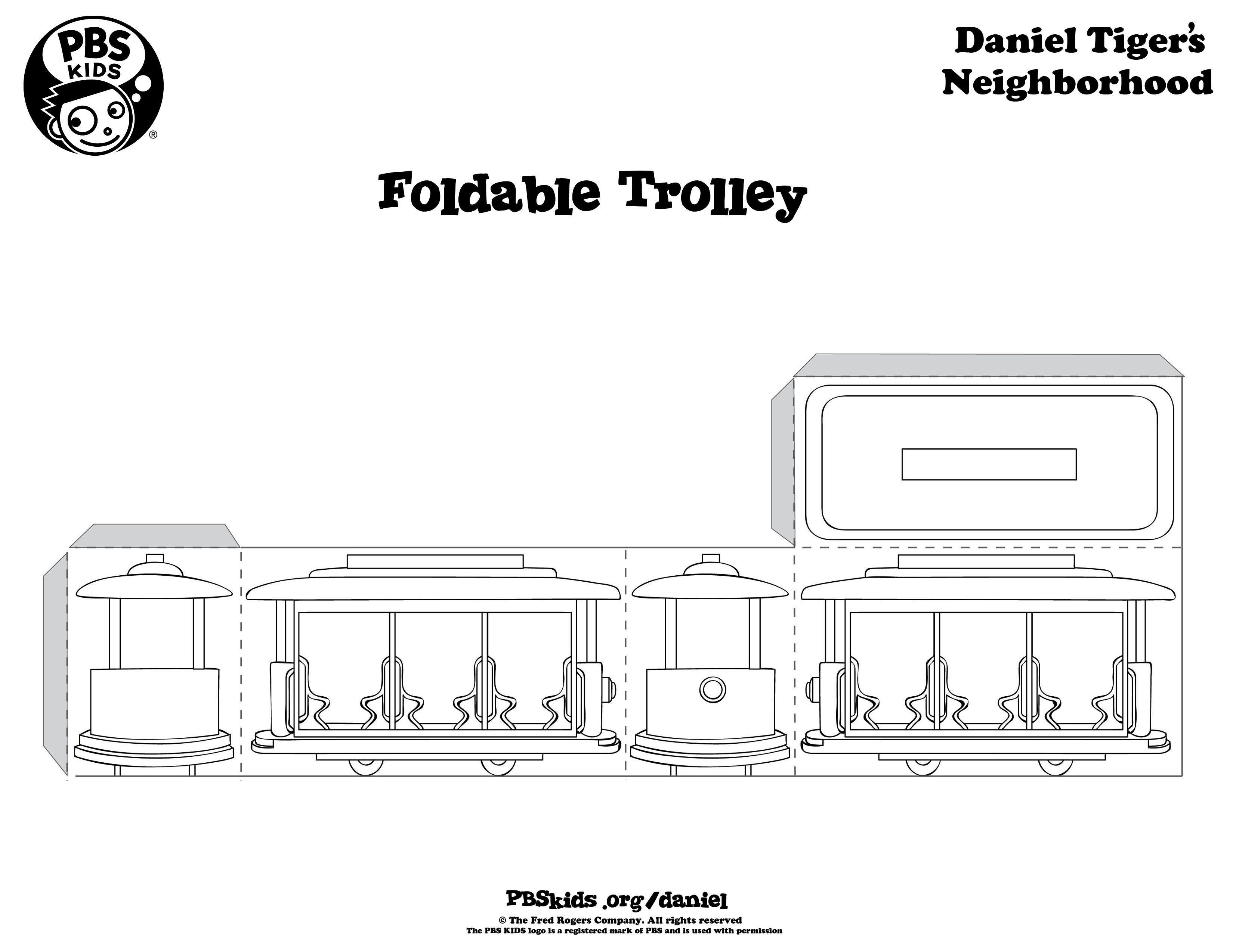 Daniel Tiger Trolley Printable Kids Birthday Party Pbs