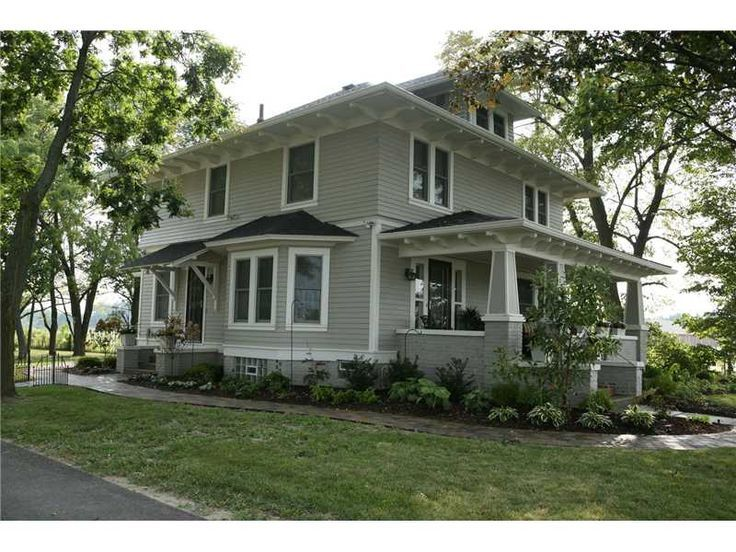 American foursquare house remodel craftsman american for Old american style houses