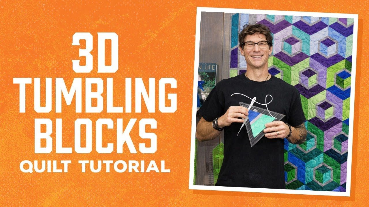 Make A 3d Tumbling Blocks Quilt With Rob Quilts