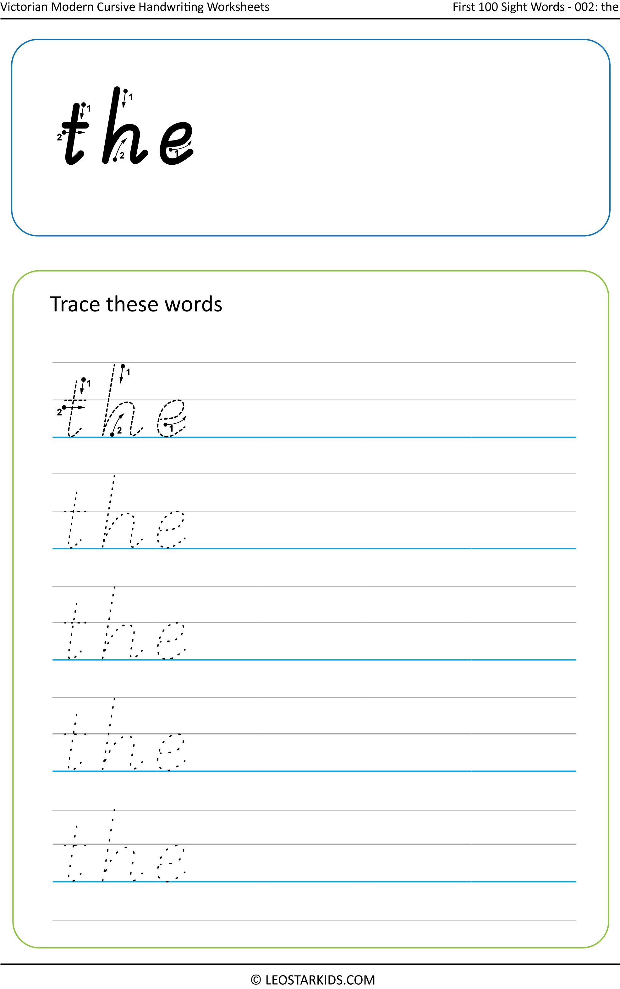 Australian Handwriting Worksheets Victorian Modern Cursive Sight Words Learning English For Kids Easy Crafts For Teens Kindergarten Classroom Organization [ 3147 x 1973 Pixel ]