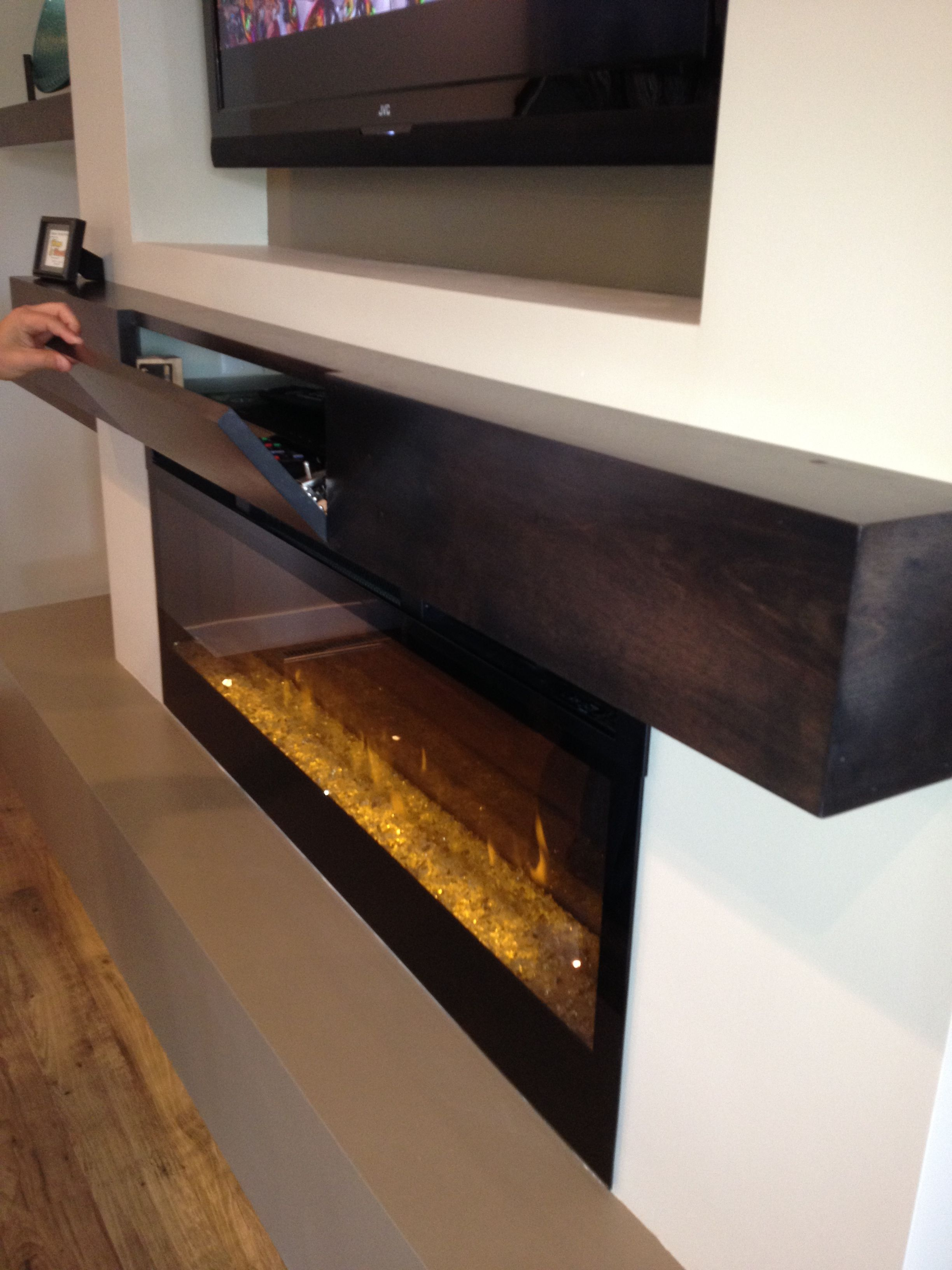 great extra storage for components in a box style mantle