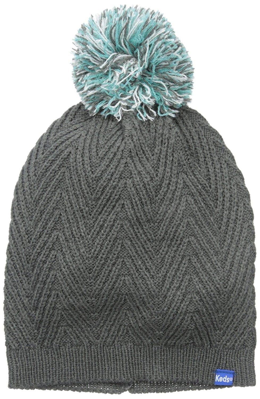 Women s Knit Pom Beanie - Pewter - CN11A4DU06N - Hats   Caps 06024c87d8bb
