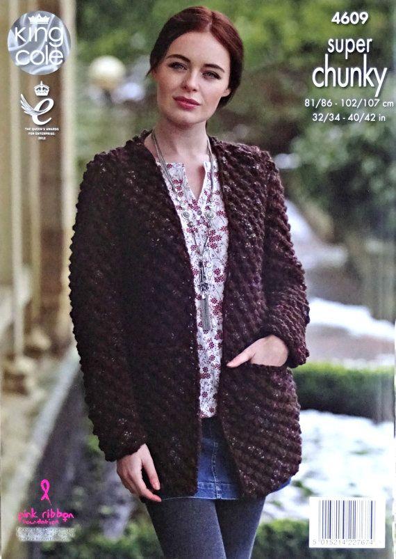 Womens Knitting Pattern K4609 Ladies Long Sleeve Blackberry Stitch