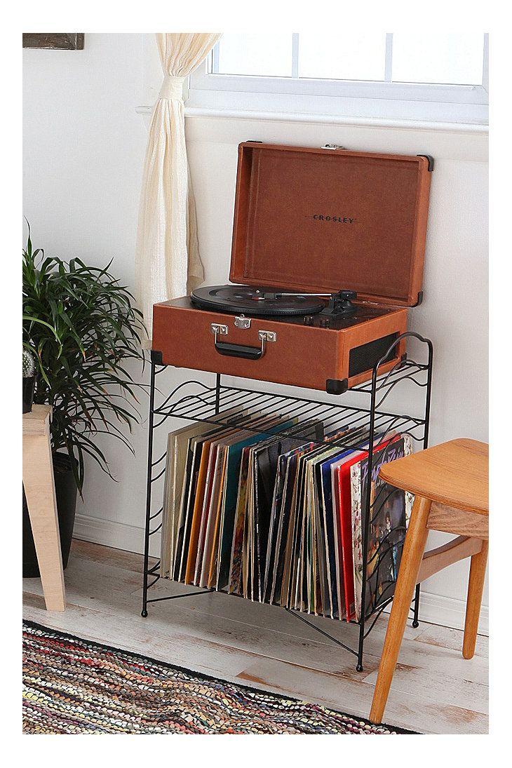 Black Record Stand Stockage Record Rangement Vinyle Stockage