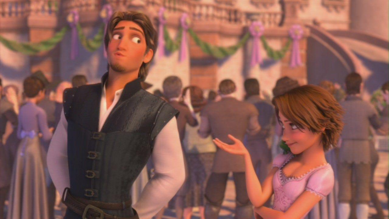 Rapunzel and Flynn - Tangled | Disney - Tangled | Pinterest ... for Tangled Wallpaper Rapunzel And Flynn  103wja