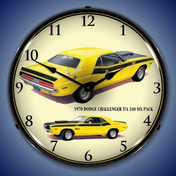 Pin By Jackandfriends Com On Lighted Wall Clocks Wall Clock Light Clock Dodge Challenger