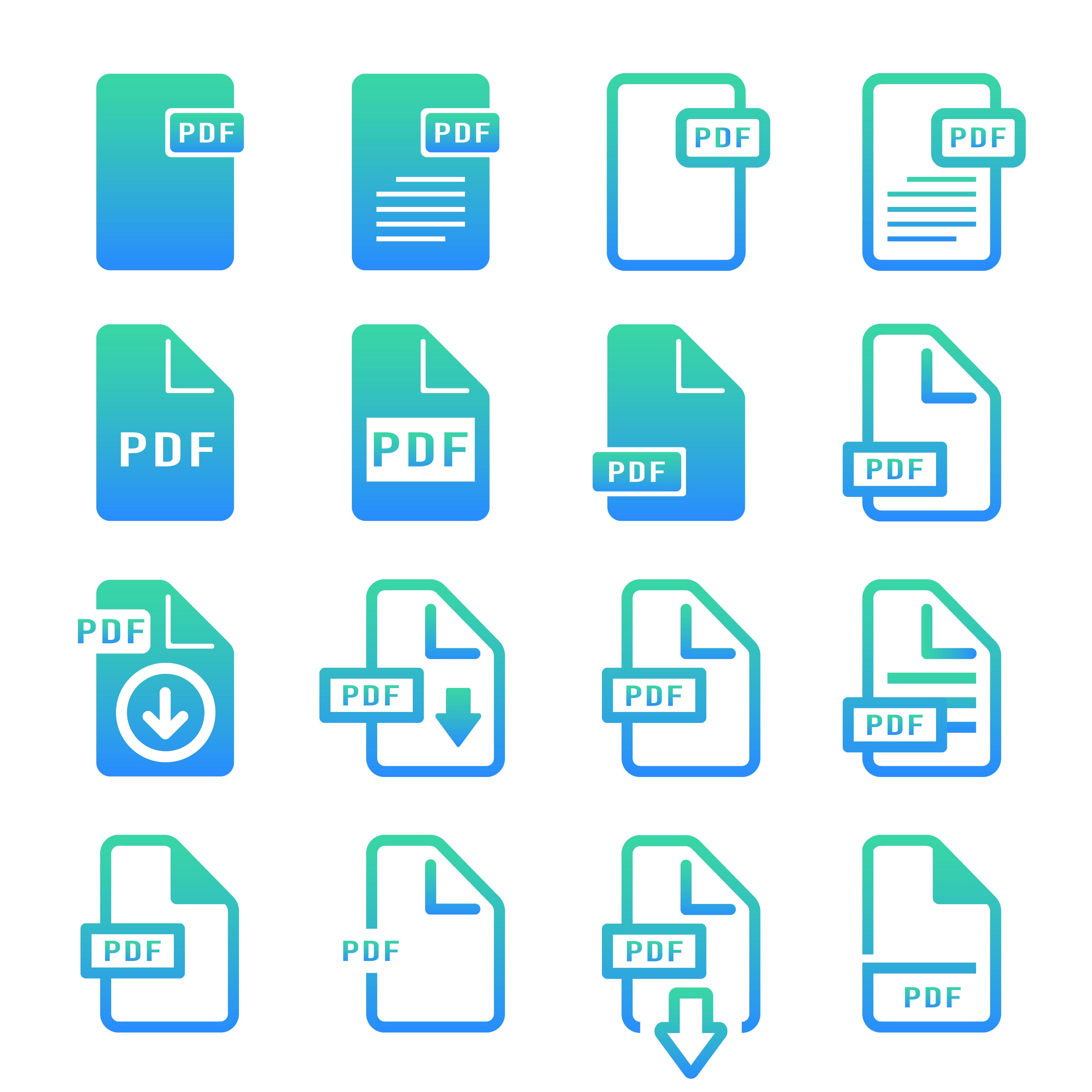 file pdf computer icon logo design gradient