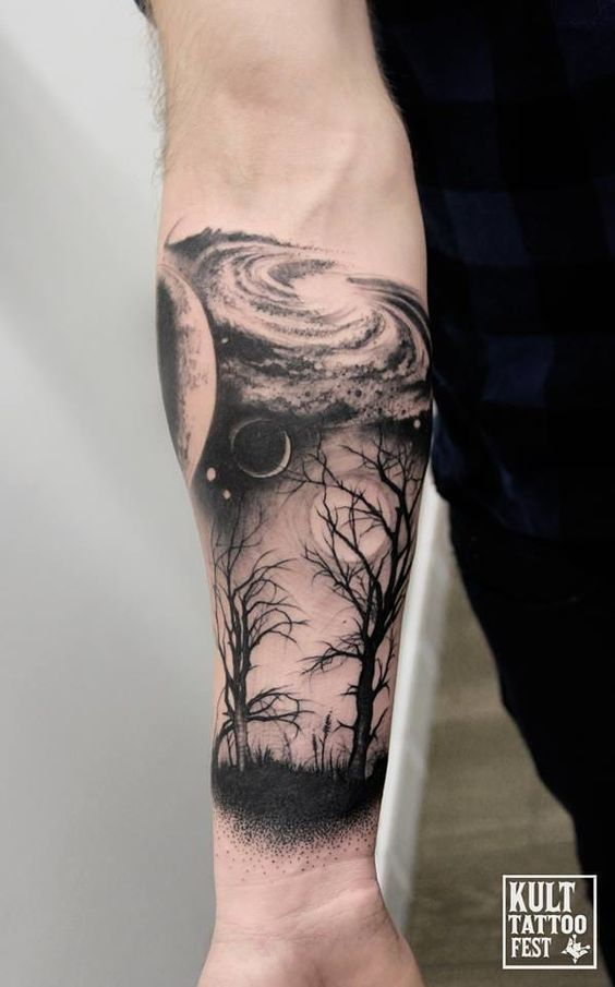 Poetic Blackwork Tattoos By Piotr Bemben Przedramie
