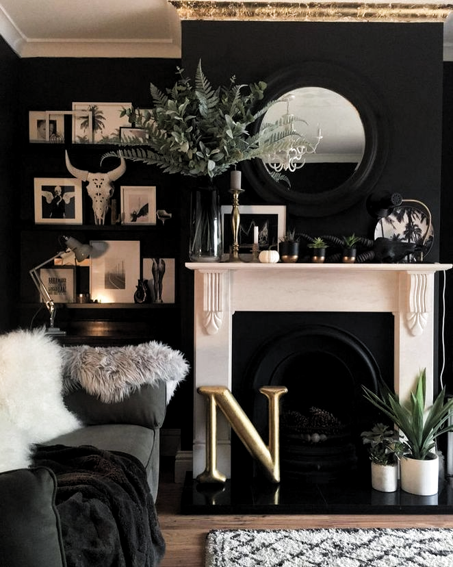 A Dark living room- first of all: Don't be afraid! Instead of being afraid welcome smoky and dramatic hues to highlight your real cozy, elegant and intensive room!#luxury #interiordesign #modernhomedecor #midcenturylighting #uniquedesignideas #homedecor #interiordesignideas #livingroomdesign #livingroomideas #modernlivingroom #maximalistdecor