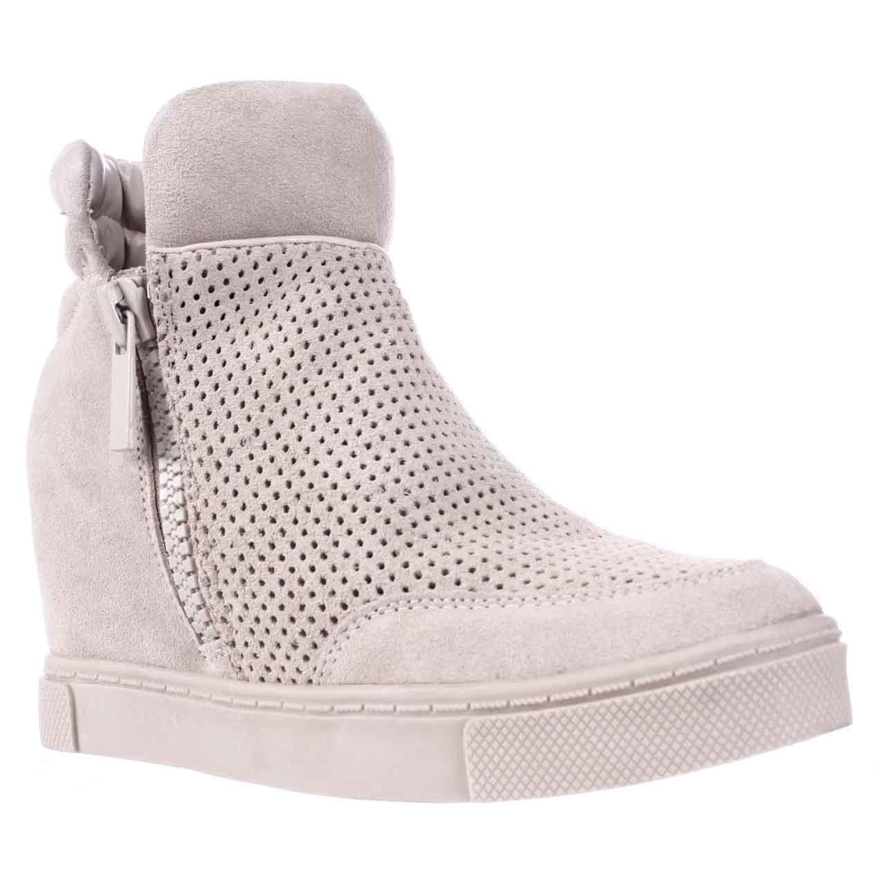 29e85e136e8 Steve Madden Linqsp Perforated Wedge Fashion Sneakers - Sand