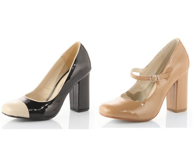 We love these `60s-style block heels from Dorothy Perkins