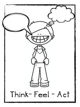 Think Feel Act Worksheets | Coping skills | Pinterest | Worksheets ...