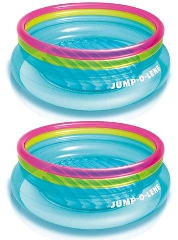 Intex Inflatable 80Inch JumpOLene Ring Bouncer For Kids Ages 36 2 Pack