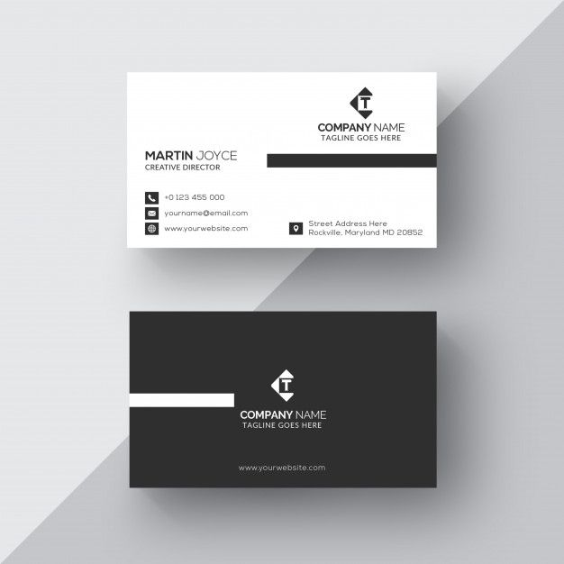 Classic Black And White Business Card Graphic Design Business Card White Business Card Business Card Template Design