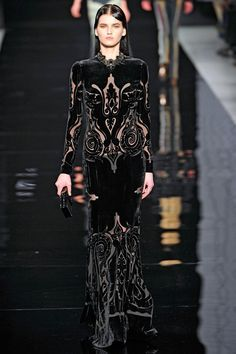 Fall 2012 RTW  Etro  Forces me to re-evaluate my disdain for black velvet evening gowns.