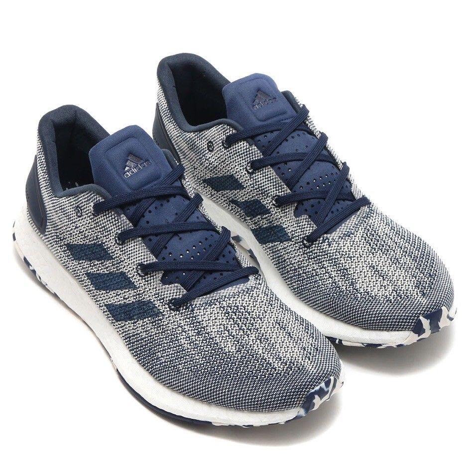 Adidas Pure Boost Dpr Mens S80733 Night Indigo White Knit Running Shoes Size 10 Fashion Clothing Shoes Accessories Adidas Pure Boost Pureboost Adidas Men
