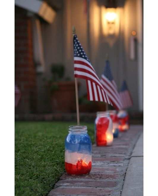 30 Patriotic Home Decoration Ideas In White Blue And Red: Patriotic Party: 25 DIY 4th Of July Decorations -home And