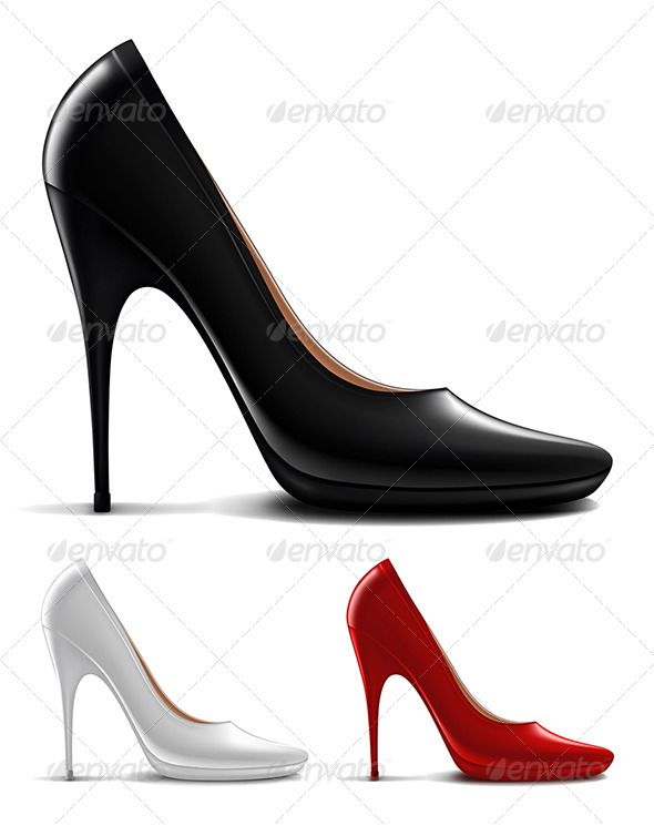 Multicolored high heel shoes   #GraphicRiver         Vector illustration of multicolored high heel shoes     Created: 20July12 GraphicsFilesIncluded: JPGImage #VectorEPS Layered: Yes MinimumAdobeCSVersion: CS Tags: accessory #black #classic #clothing #concept #design #dress #elegant #element #fabric #fashion #female #feminine #foot #footwear #heel #high #lady #leather #luxury #mesh #modern #object #red #shoe #style #stylish #women