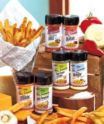Add mouthwatering zing to your fries with these delicious French Fry Seasonings. With this value-priced set of 2, you can also sprinkle them on potatoes, popcorn, salads, pasta, chicken, veggies, burgers and more. Low-sodium seasonings are gluten fre