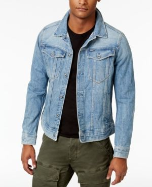 G Star Raw Men S 3301 Slim Fit Deconstructed 3d Denim Jacket Blue Denim Jacket G Star Jackets