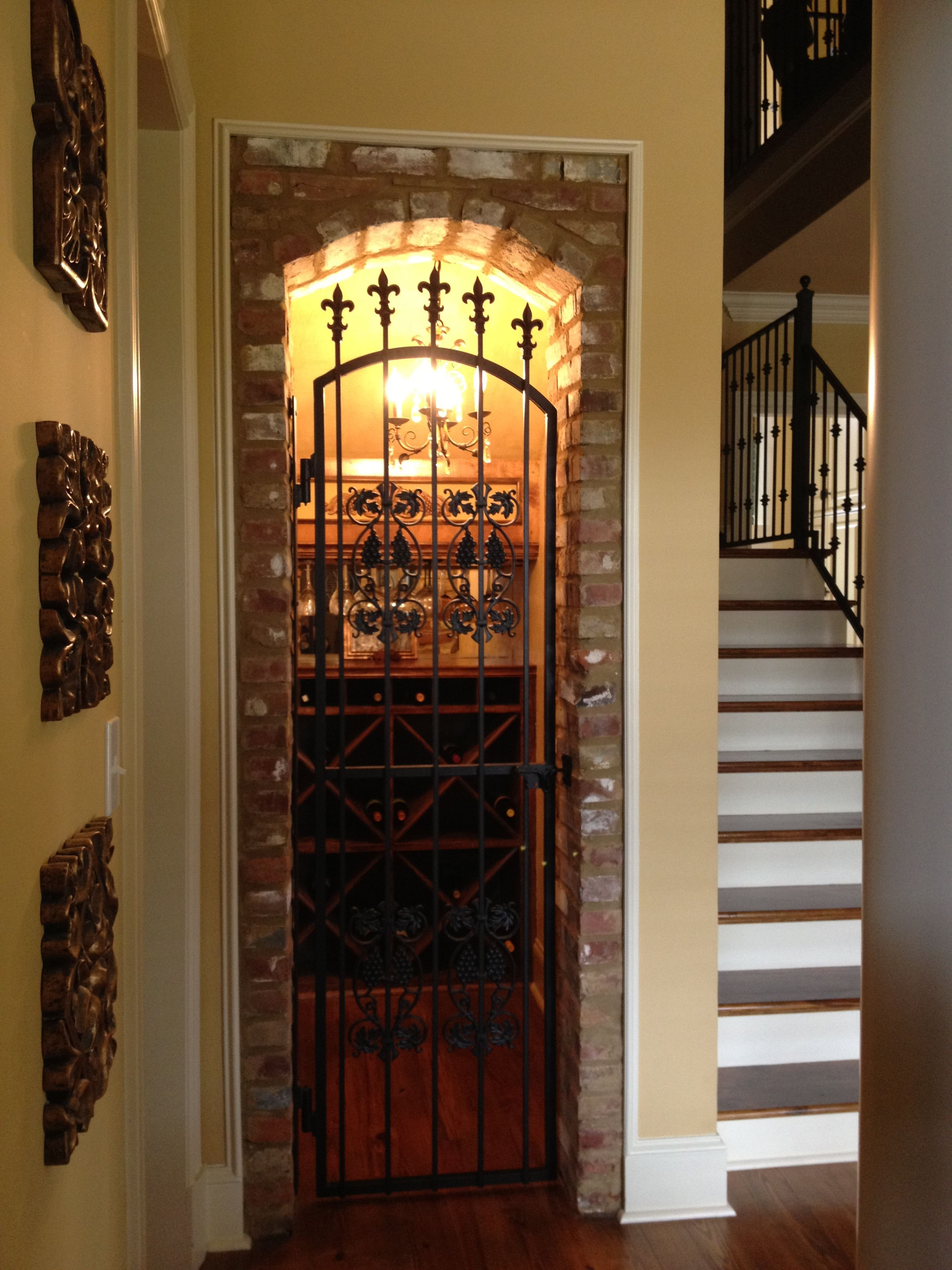 Wine cellar wine closet under stairs for the home for Wine cellar pinterest