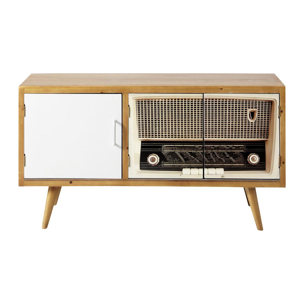 Maisons du monde mobile tv vintage fifty 39 s home is not a place is a feeling pinterest - Mobile porta tv maison du monde ...