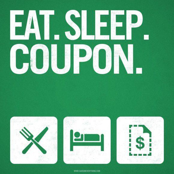 Eat sleep coupon couponing humor pinterest eat sleep coupon fandeluxe Gallery