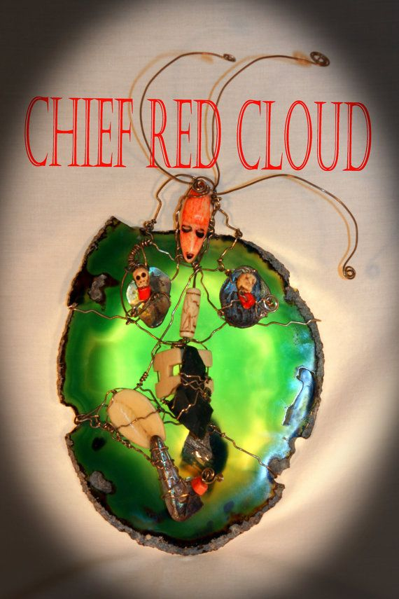 Chief Red Cloud    Mask Sculpture / Wall Hanging by BlindFaithArt