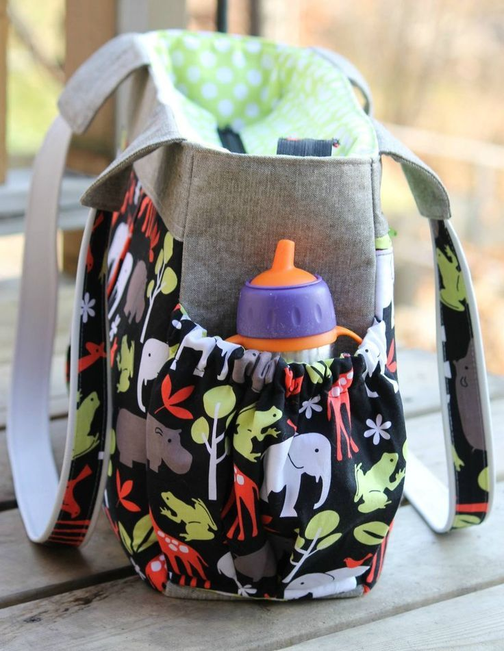 The Foxglove Bag - Fitness or Diaper bag - PDF Sewing Pattern ...