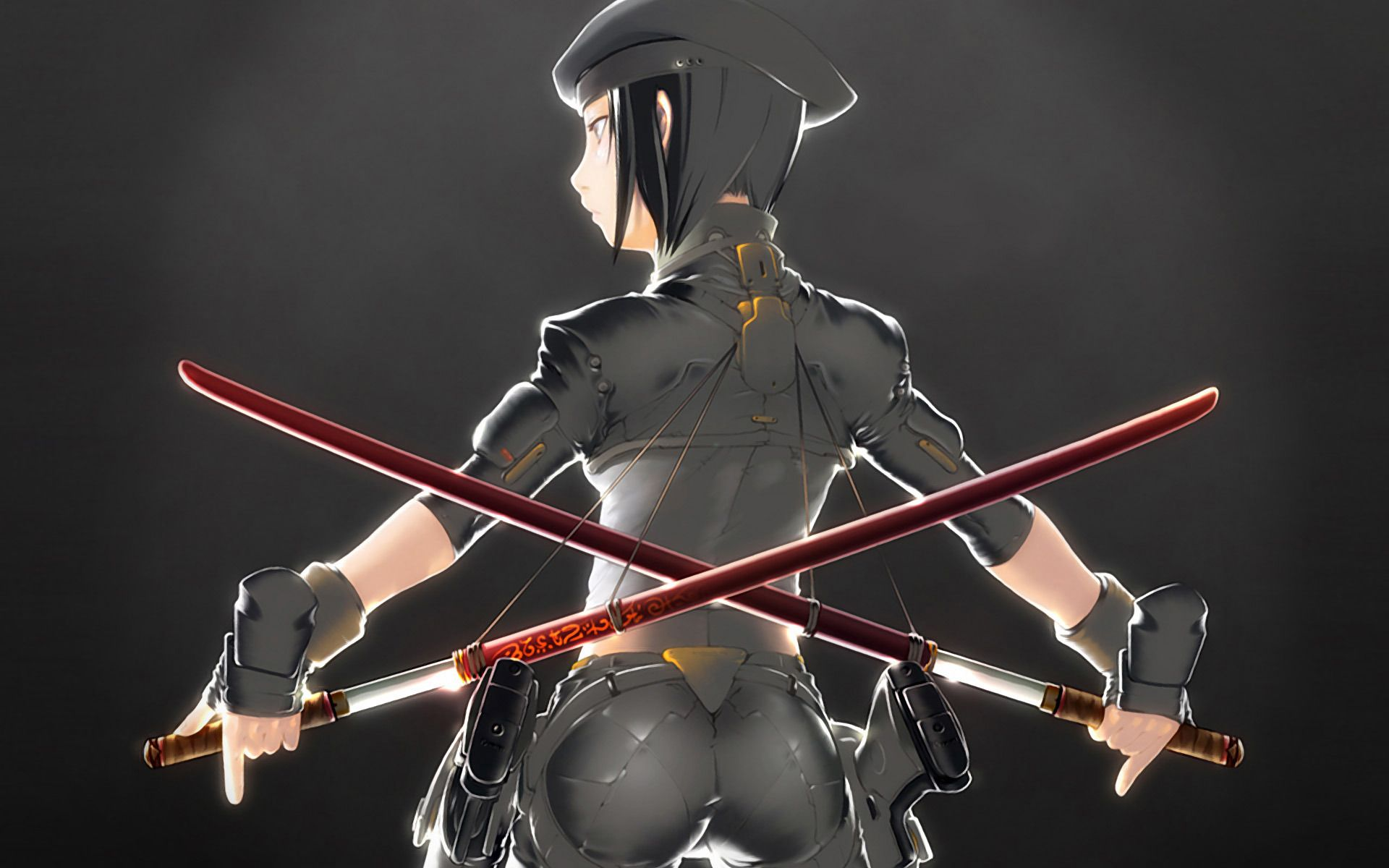Military Girl With Katana Swords Wallpaper 1033889 Character