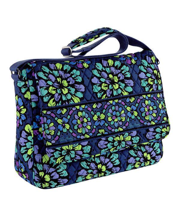 Love this Indigo Pop Messenger Bag by Vera Bradley on #zulily! #zulilyfinds