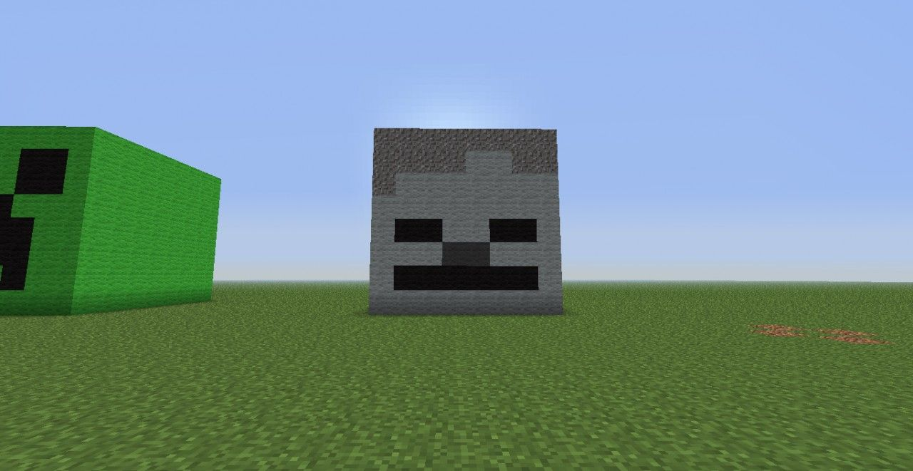 3d Skeleton Head Minecraft Project Minecraft Skeleton Skeleton Head 3d Skeleton