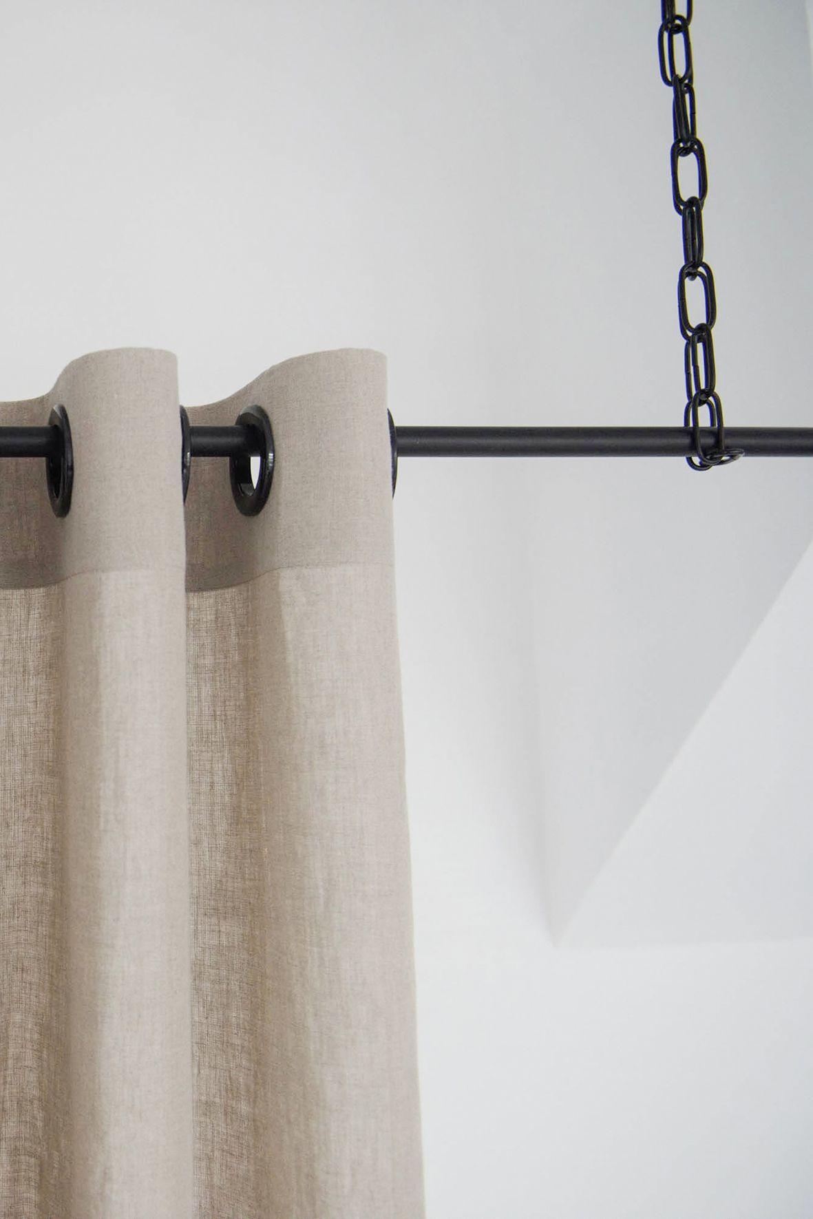 Blackout linen curtains with grommets colors grommet curtain