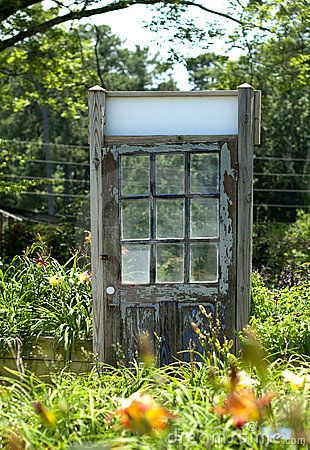 I Would Love To Hang A Random Wooden Door In My Garden Like The Secret Garden Old Wooden Doors Garden Doors Day Lilies