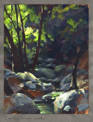 Nathan Fowkes, Land Sketch: Switzer creek in Angeles Crest Forest, Cal...