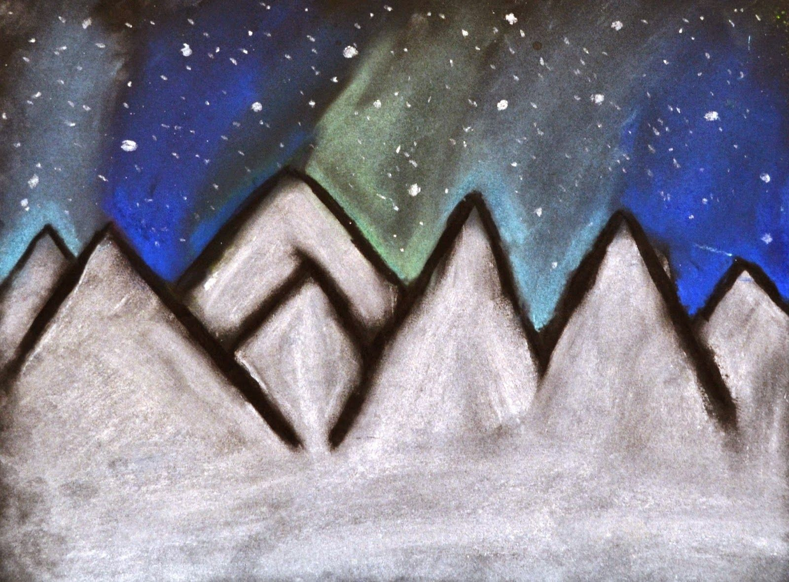6th Grade: Northern Lights Drawings | Lessons from the K-12 Art Room