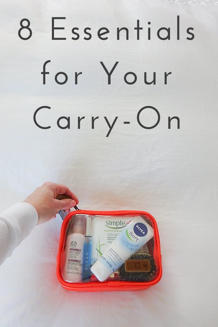 8 Essential Carry On Beauty Items