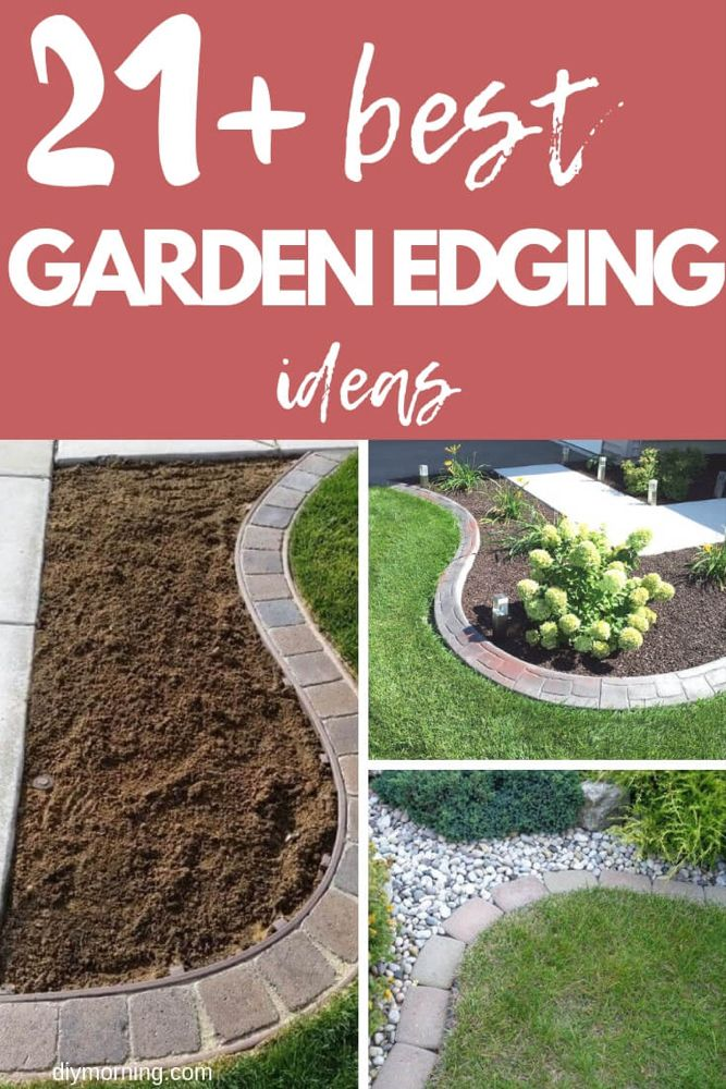 21+ Brilliant & Cheap Garden Edging Ideas is part of Garden edging, Garden edging ideas cheap, Small garden edging ideas, Garden lawn edging, Amazing gardens, Landscape edging - Landscape edging constructs the framework of your garden  Garden Edging may be pretty costly, and definitely so if you are going to employ bricks to edge your lawn