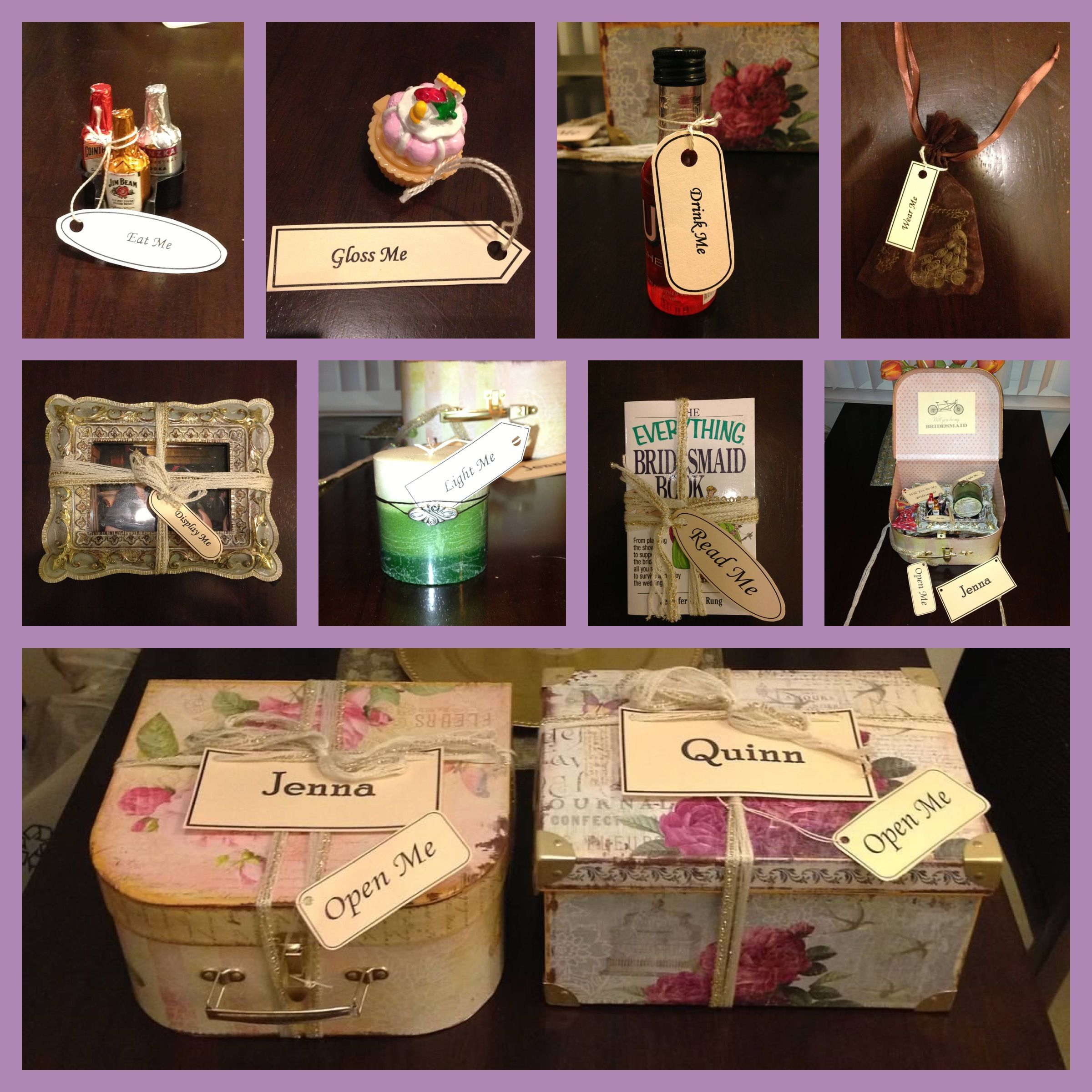 Alice in Wonderland theme bridesmaid box. How to ask your bridesmaid ...