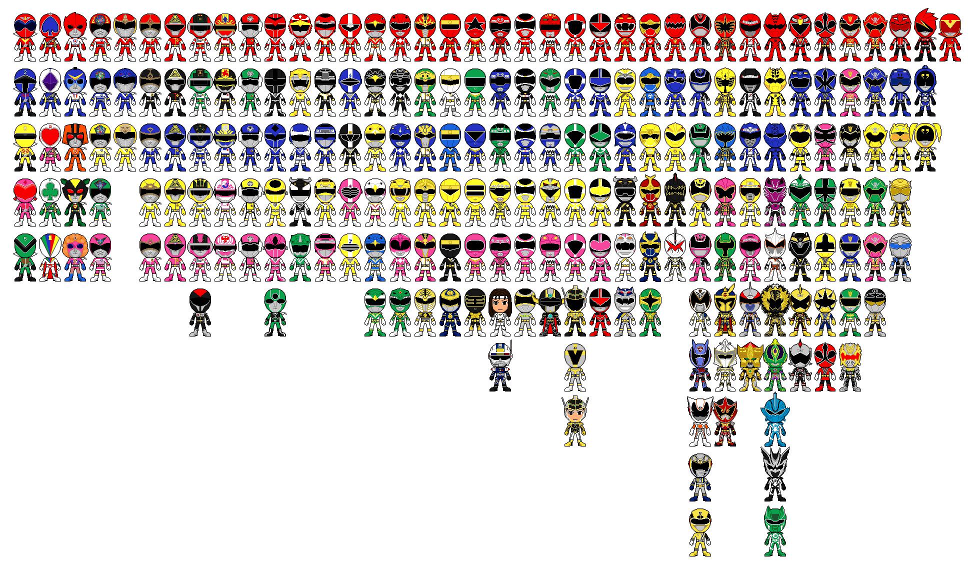 Gaoranger Pixel Art Power Rangers All Power Rangers