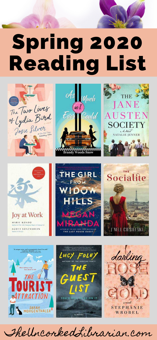 Don't miss these popular Spring 2020 books to read. Find the hottest new book releases from March to June 2020. #theuncorkedlibrarian