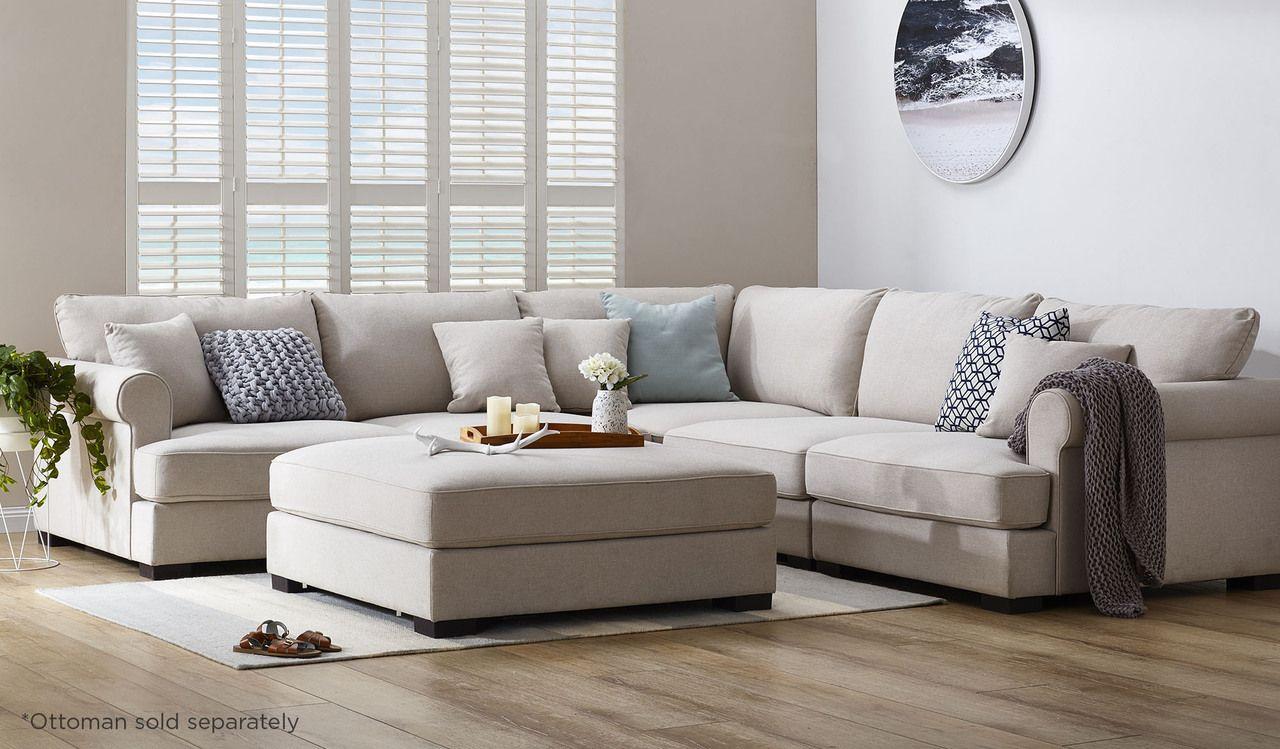 Hampton Inspired Large Corner Modular Lounge Living