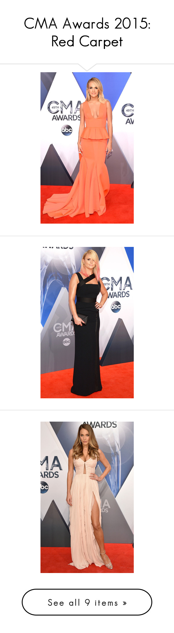"""""""CMA Awards 2015: Red Carpet"""" by polyvore-editorial ❤ liked on Polyvore featuring RedCarpet, cma and accessories"""