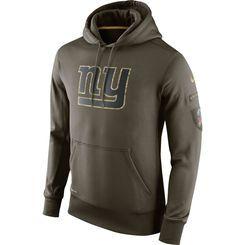 New York Giants Nike Salute To Service KO Performance Hoodie - Olive