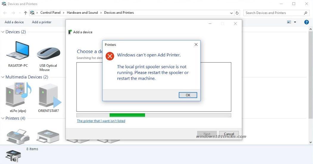 Fix Print Spooler Service Not Running After Windows 10 Update