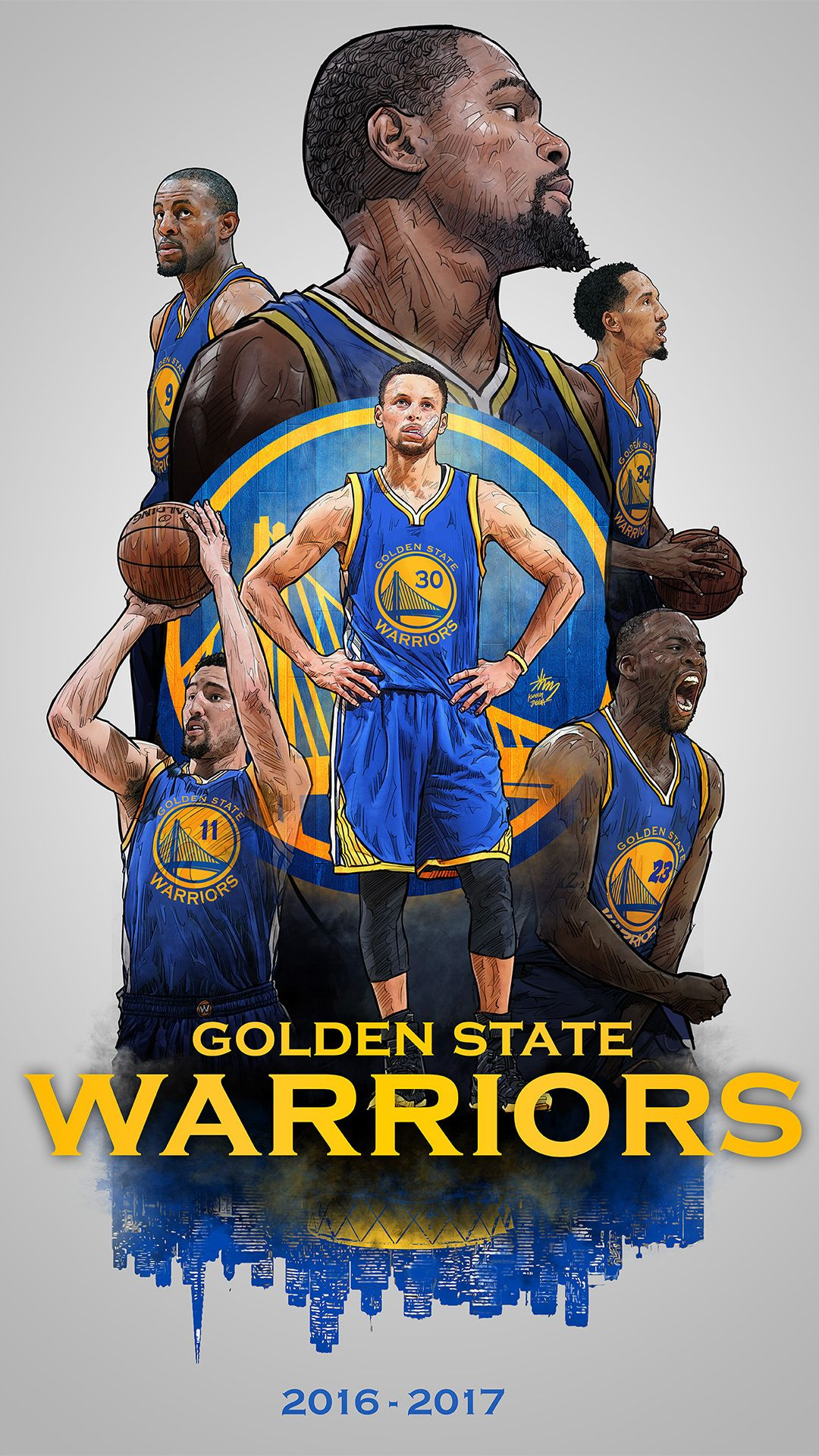 dfcd9b47fd2 Confira este projeto do  Behance  u201c2016-2017 GOLDEN STATE WARRIORS  Smartphone Lock Screenu201d
